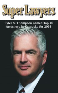 Tyler S. Thompson Named Top Ten Attorney in Kentucky for 2016